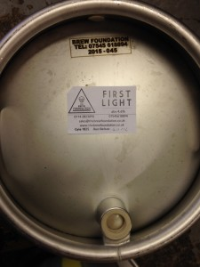 First Light in Cask